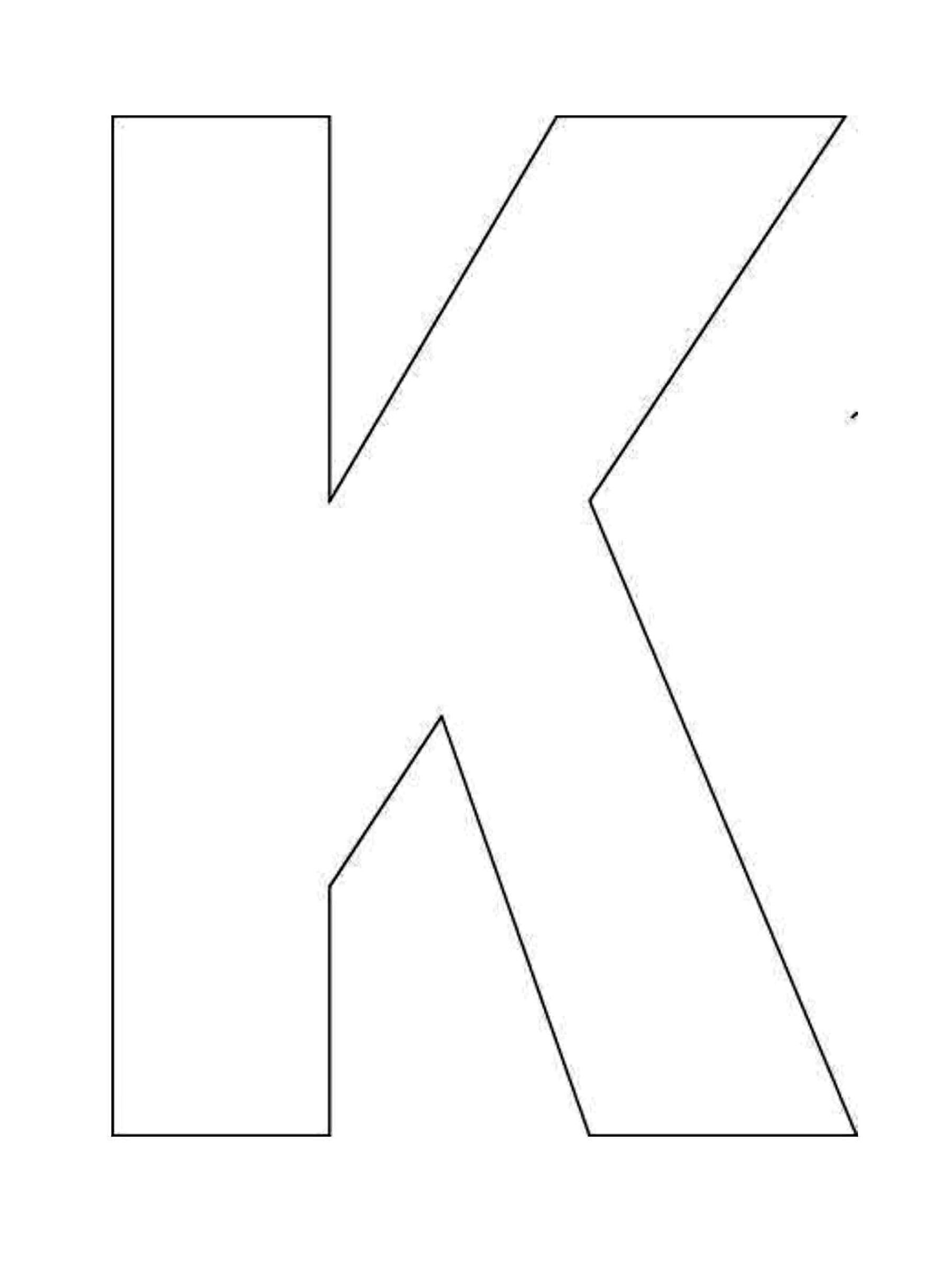 Printable Alphabet Letter K Template