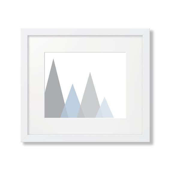 Printable Art Triangle Art Abstract Art Grey Art by PrintPrettyArt