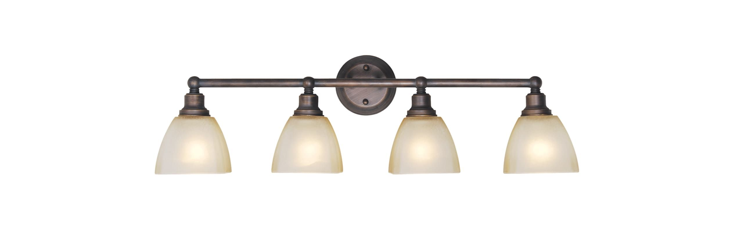 Photo of Craftmade 26604-BZ Bronze Bradley 4 Light Bathroom Vanity Light – 32.65 Inches Wide