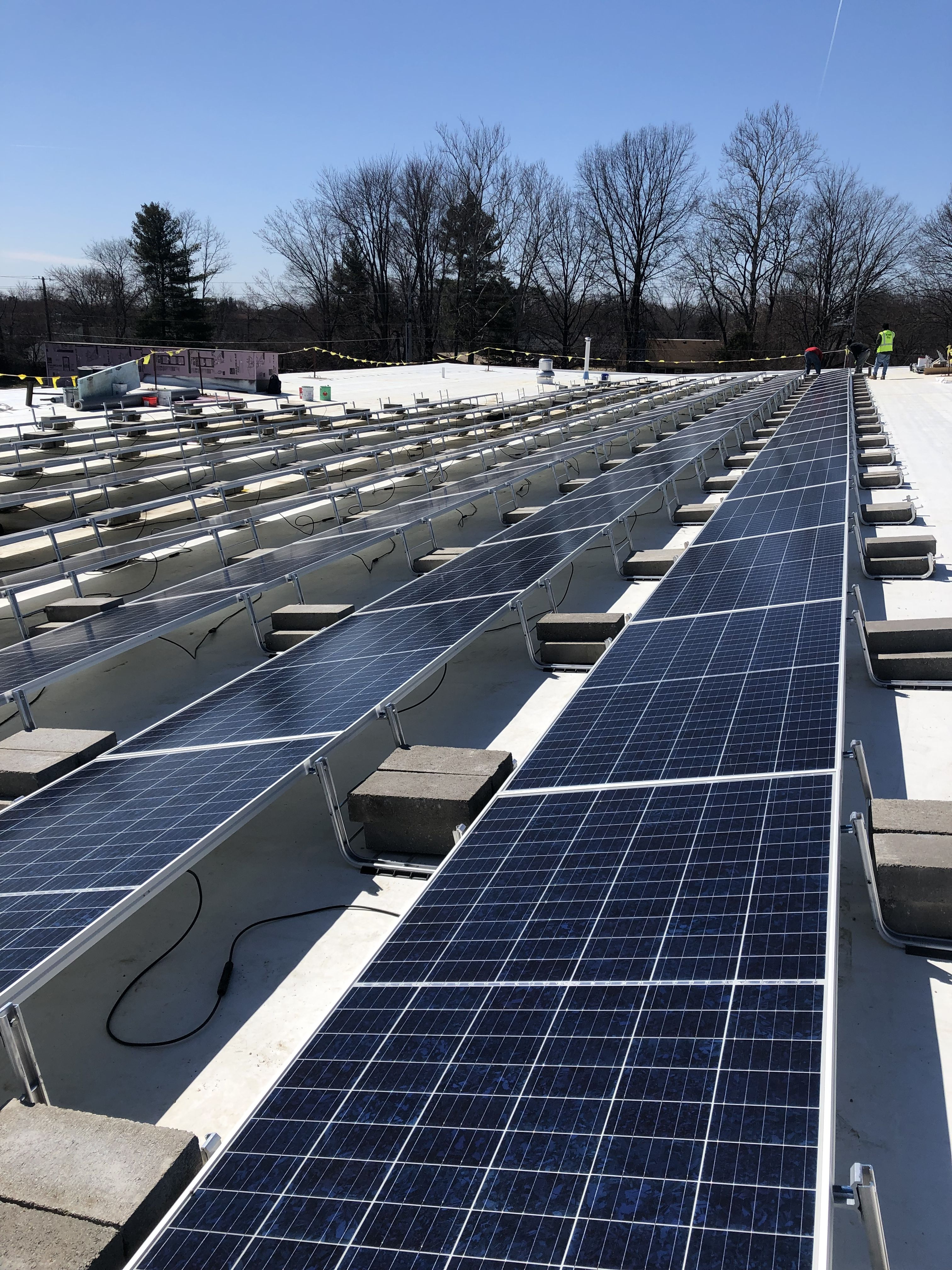 Image By Twm Electrician The Working Ma On Clean Energy Solar Energy Renewable Energy Roof Solar Panel Solar Panels Solar