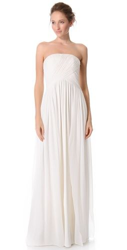 Giambattista Valli Strapless Ruched Dress | SHOPBOP