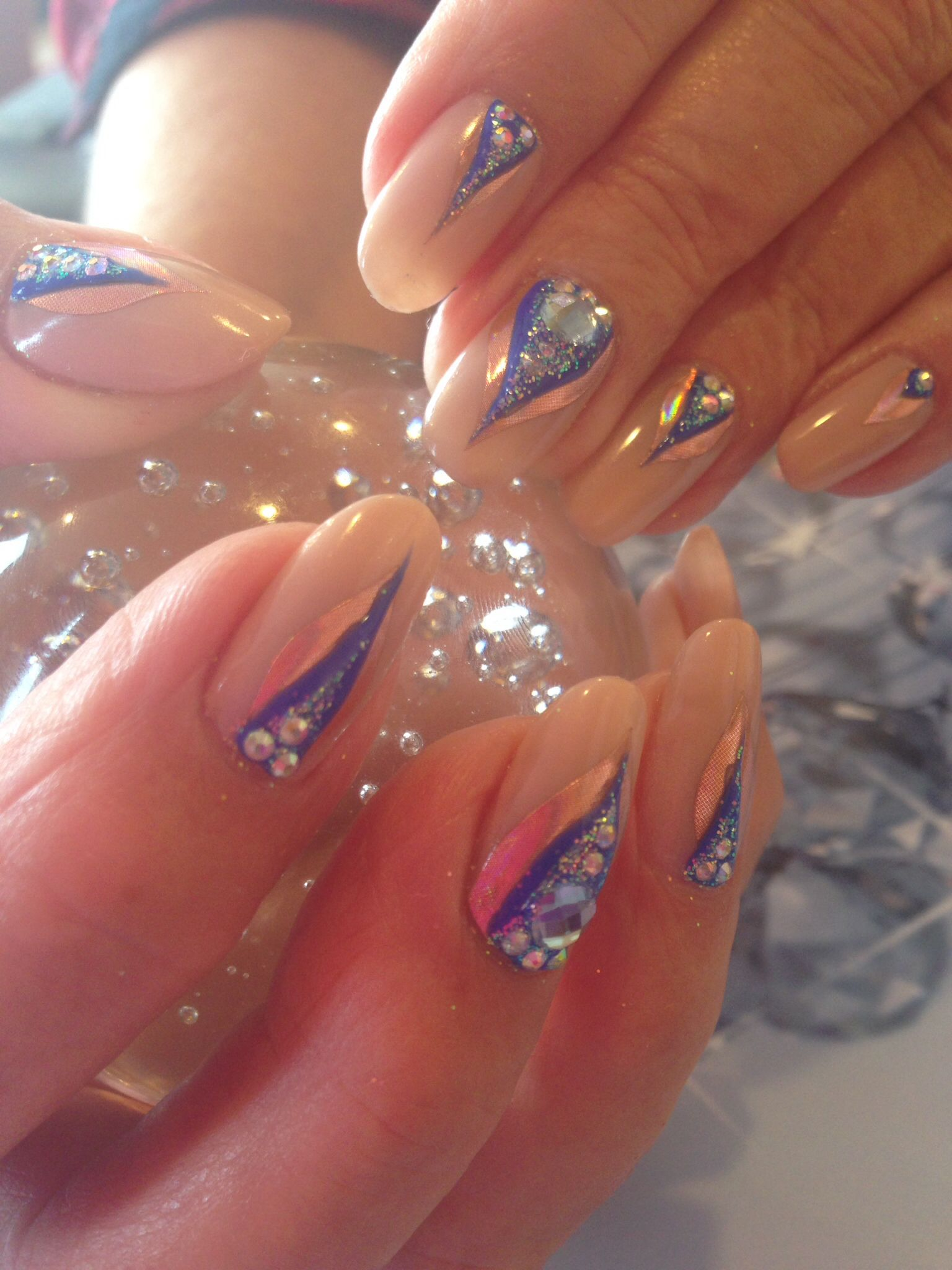 Cnd Shellac With Empower Nail Art Nails Pinterest