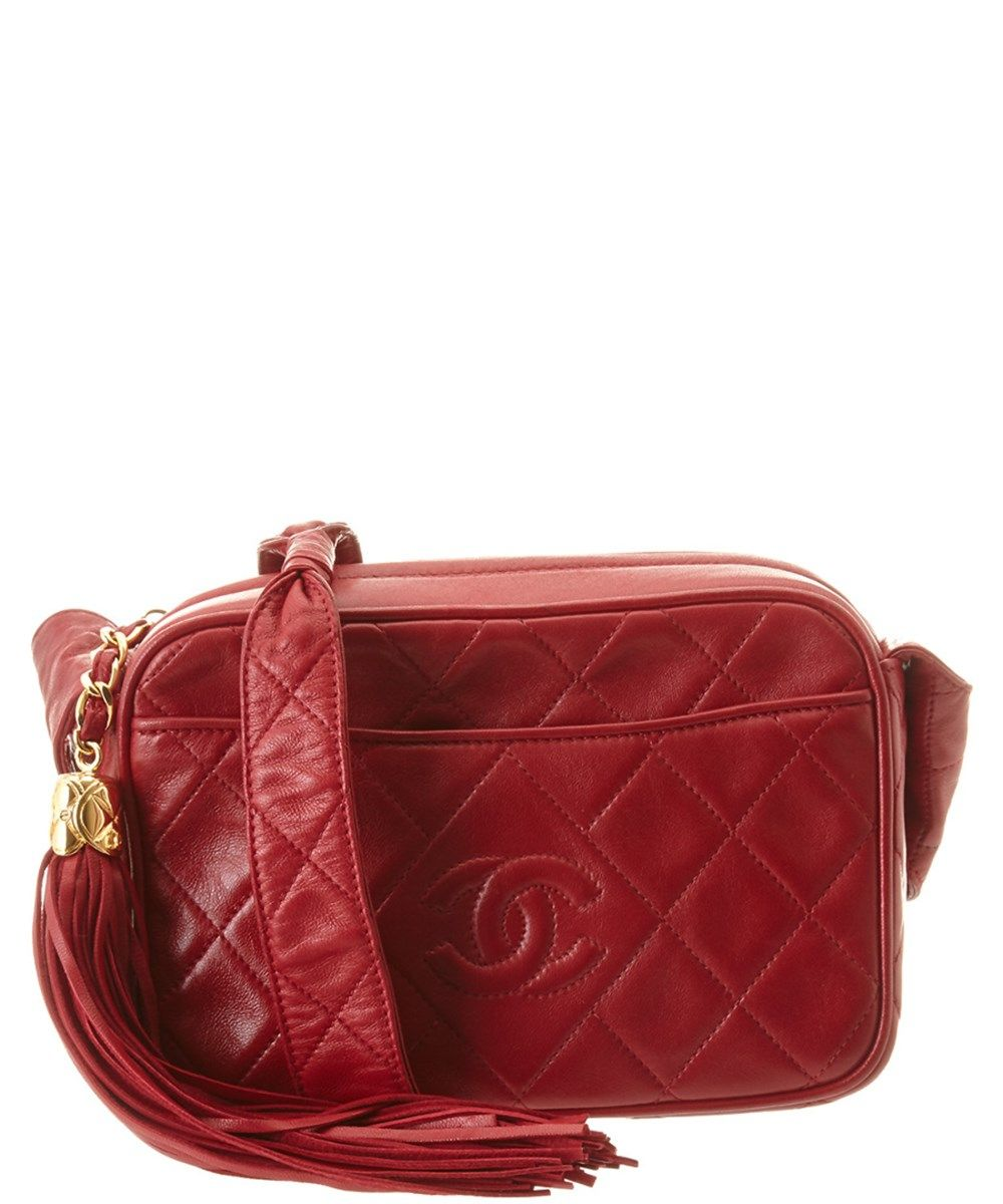 24564bb1eecc CHANEL Chanel Red Quilted Lambskin Cc Camera Bag'. #chanel #bags #shoulder  bags #leather #lining #