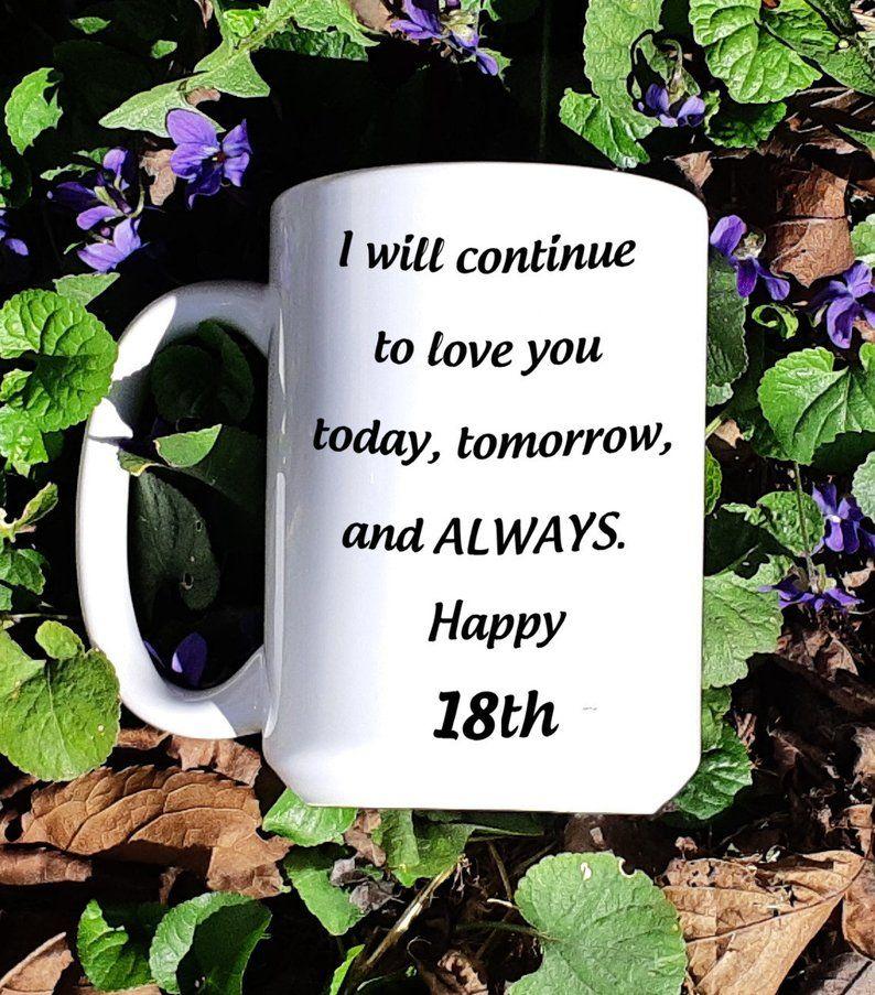 18th Wedding Anniversary Mug For Wife 18 Years Jubilee Gift Etsy 18th Wedding Anniversary Birthday Gifts For Husband Wedding Anniversary