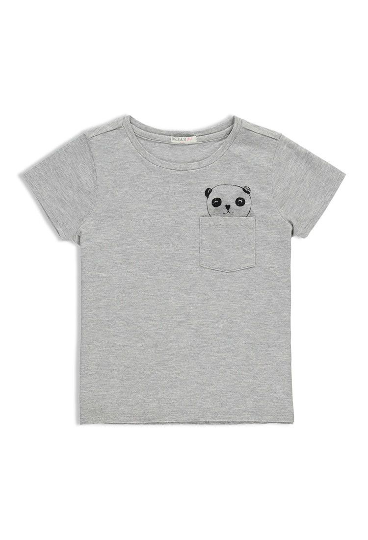 ba1c5d75c802 Girls Panda-Pocket Tee (Kids)