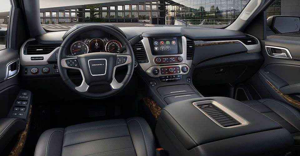 Driver's dash and the center console of the 2015 Yukon XL ...