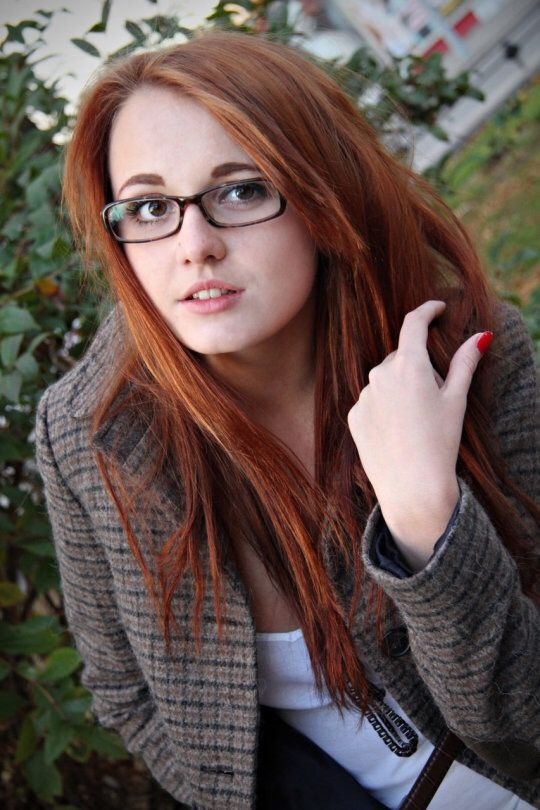 Apologise, redhead girl with glasses can