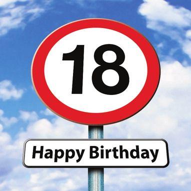 verkeersbord 18 jaar- greetz | cumpleaños feliz - birthday, birthday
