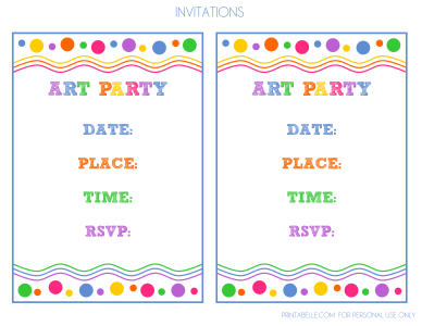 Free Art Party Printables More
