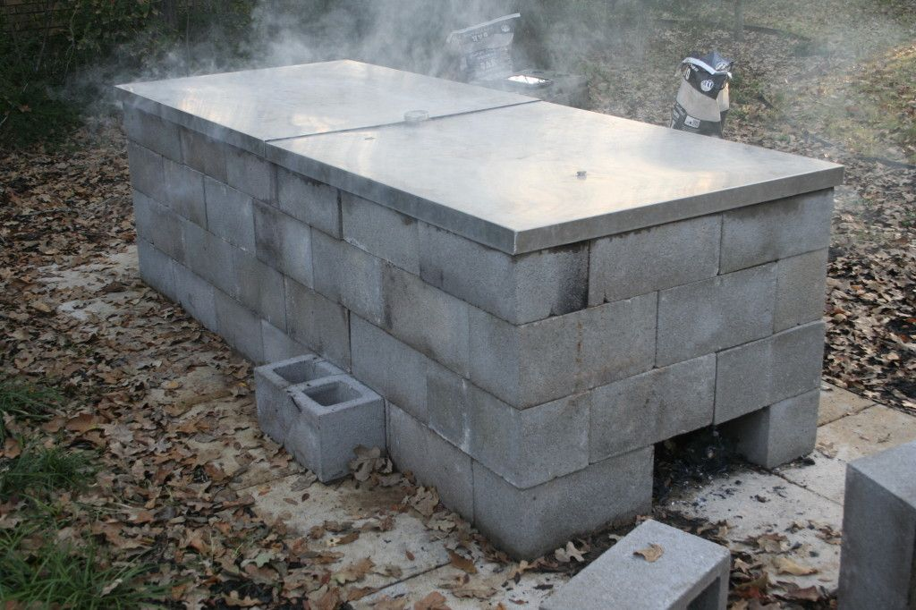 This Is An Outdoor Open Pit Bbq Constructed Of 120