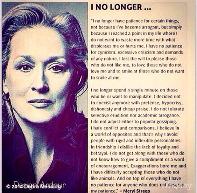 Inspiration & wisdom  from one of my favorite actresses