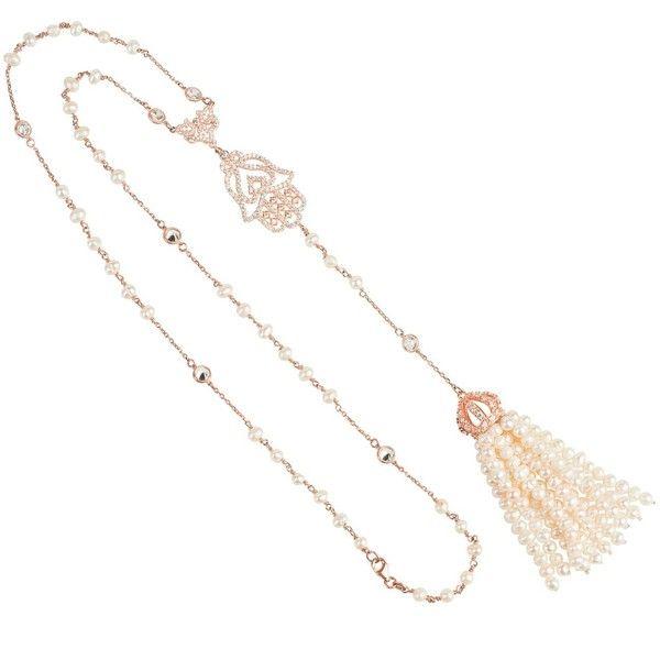 Latelita London Tassel Chain Necklace Rose Gold td1AVwg