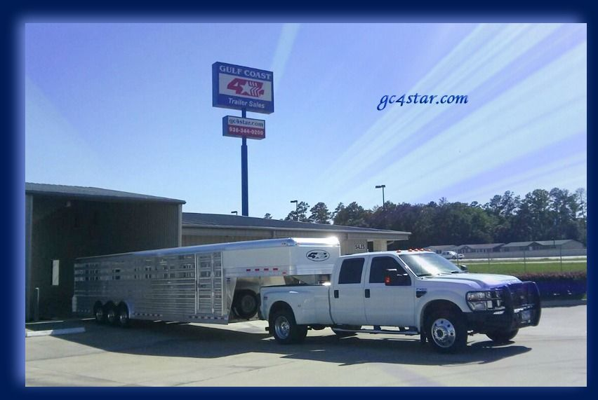 Congratulations to Keith Miller from Santa Fe, Texas on his 2014 4-Star 32' Stock trailer from Nick Garcia! Thank you for your business! Gulf Coast 4-Star Trailer Sales, LLC (877) 543-0733