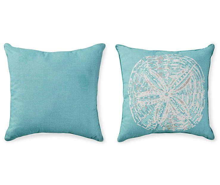 Aqua Sand Dollar Outdoor Pillow 20 X At Lots
