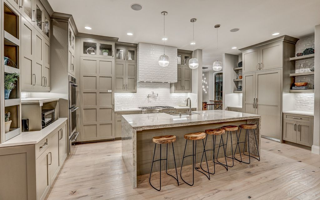 Image Result For Delaware Driftwood Oak Grey Kitchen Cabinets Light Gray Cabinets Gray And White Kitchen