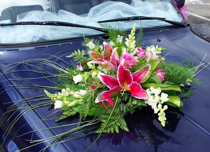 Deko Hochzeitsauto Gardening Mariage
