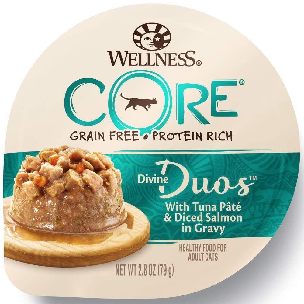 Wellness core divine duos tuna pate and diced salmon grain