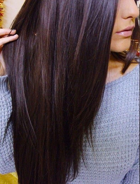 Looks like brunette with a slight hint of red.. Love this color ...