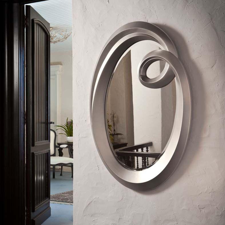 Espejo oval plata grande decoracion beltran tu tienda for Espejos grandes baratos