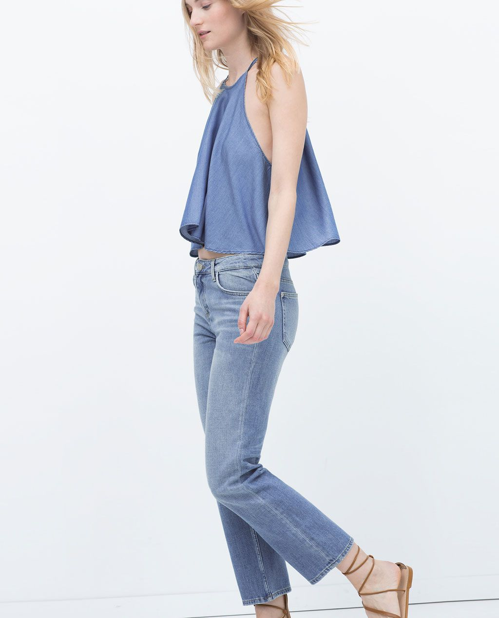 Image 4 of CROPPED JEANS from Zara