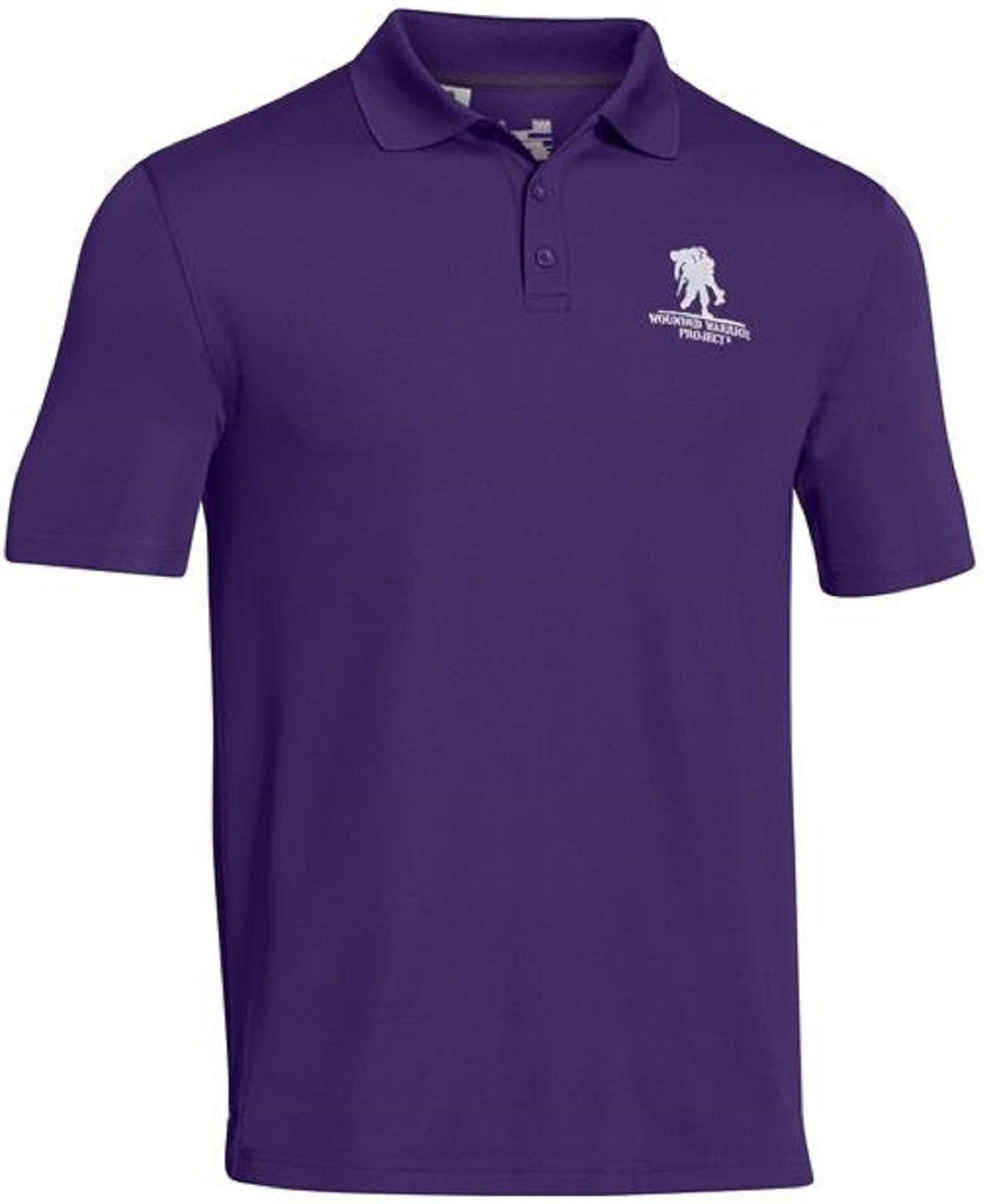 1885e2d2 Under Armour Performance Polo Shirt Wounded Warrior Project Collared Golf  Shirts