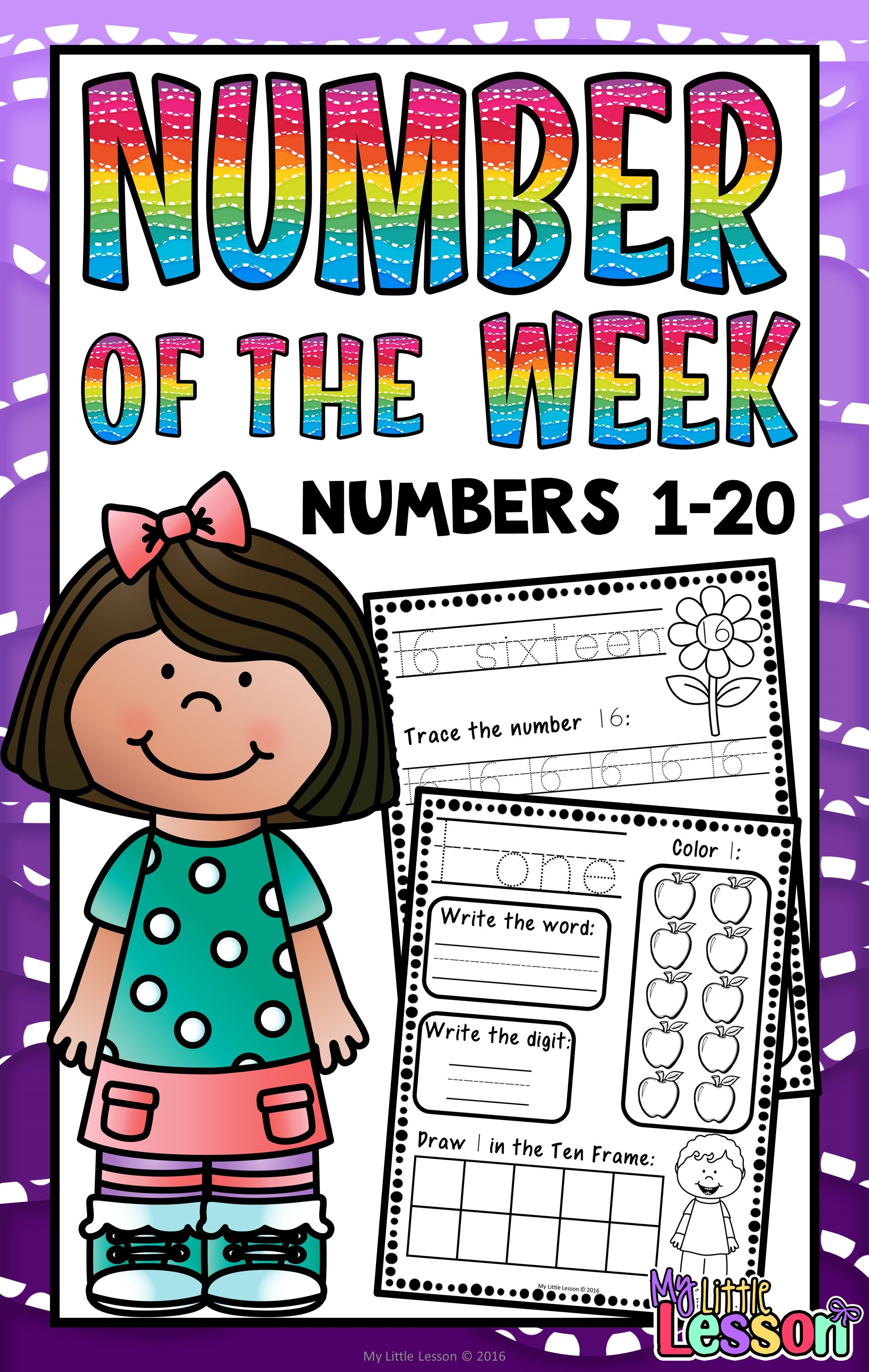 Numbers 1 20 Worksheets Number Of The Week