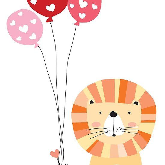 Holidays Cartoon Valentine's Day Lion