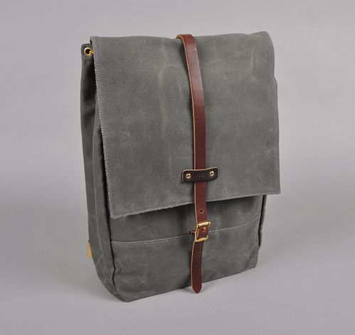 Archival Clothing - Grey Rucksack:  My girlfriend recently introduced me to this site - bad move! Tooooo many nice bags on here. This one caught my eye - byoot.