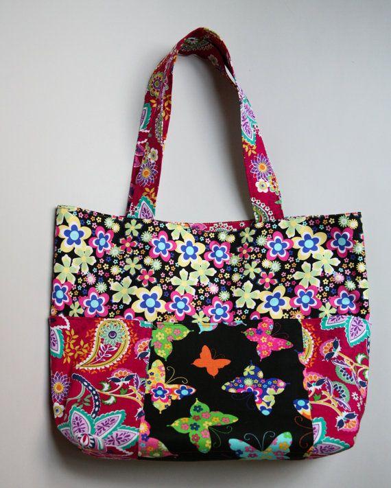 Whimsy tote bag diaper bag beach bag book bag.   by ZafinaDesigns, $25.00