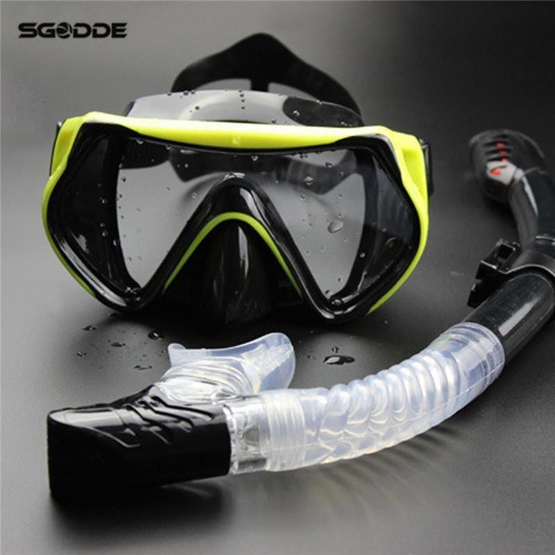 cf86a54726f8 New Half Face Swim Mask Professional Scuba Diving Mask Snorkel Anti-Fog  Goggles Glasses Set Silicone Swimming Pool Equipment  scubaequipmentgears