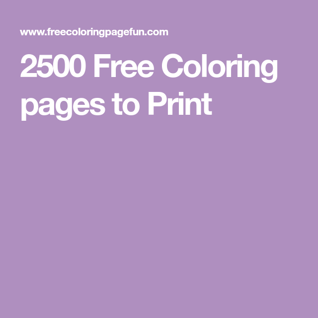 2500 Free Coloring pages to Print. including apartments ...