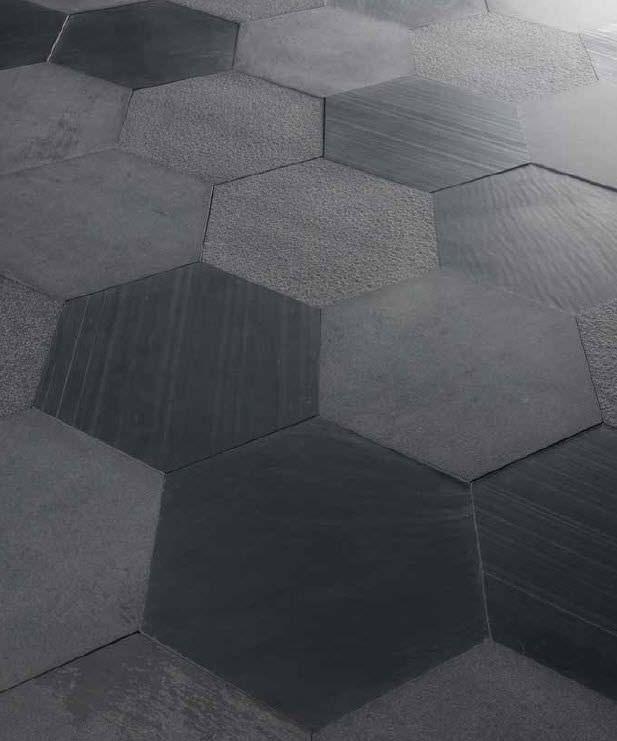 Mosaique D Interieur Au Sol En Ardoise Mat The Neutrals