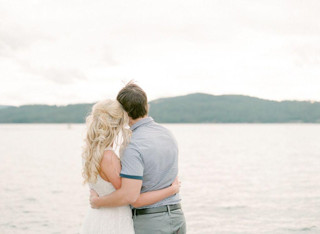 Lake Coeur d'Alene engagement session | film photography | Park Road Photography