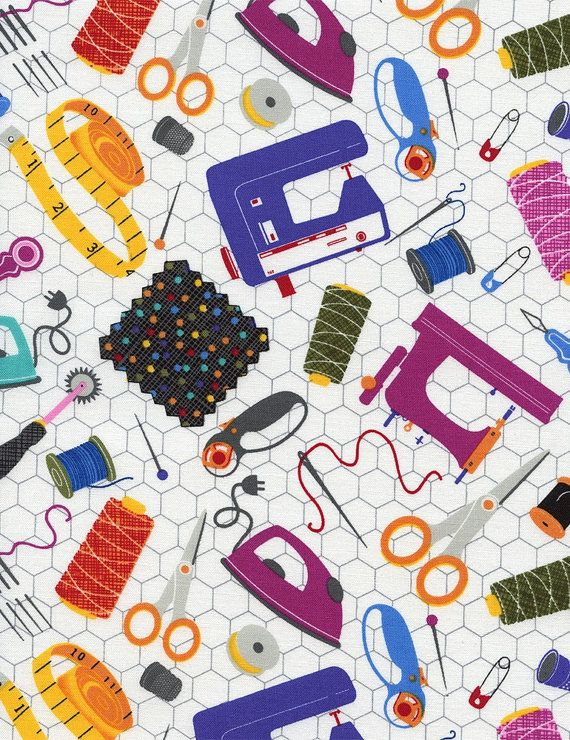 Sewing Notions Fabric : sewing, notions, fabric, Timeless, Treasures, Novelties, Sewing, Tools, White, Tools,, Projects,, Fabric