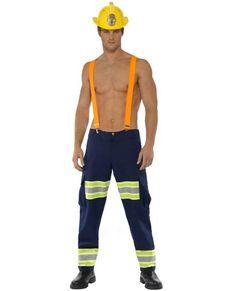Disfraz de bombero fogoso Fever para hombre  7a7c10a094c