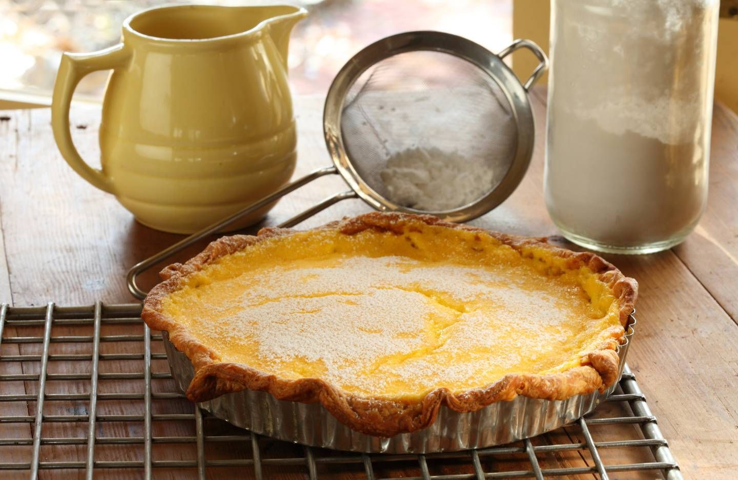 Lemon Curd Tart With Sour Cream Pastry Maggie Beer Sour Cream Pastry Lemon Curd Tart Lemon Tart