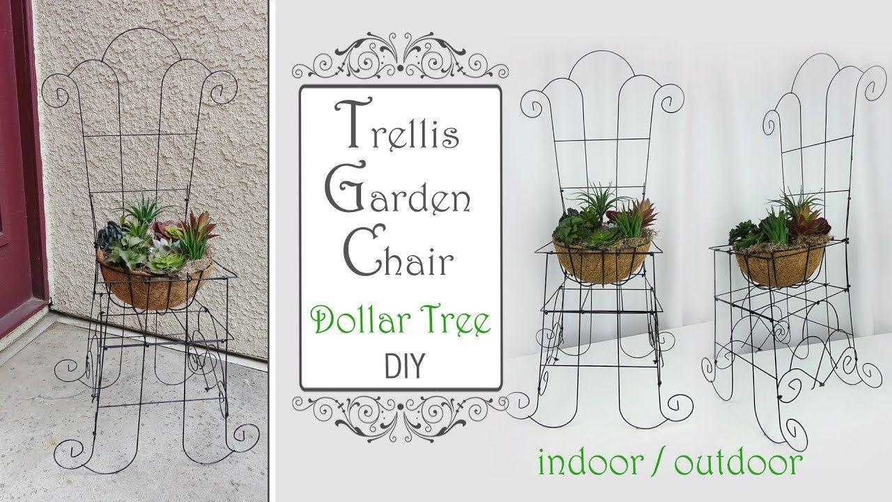 Dollar Tree Trellis Garden Chair DIY / Garden DIY / Patio Decor