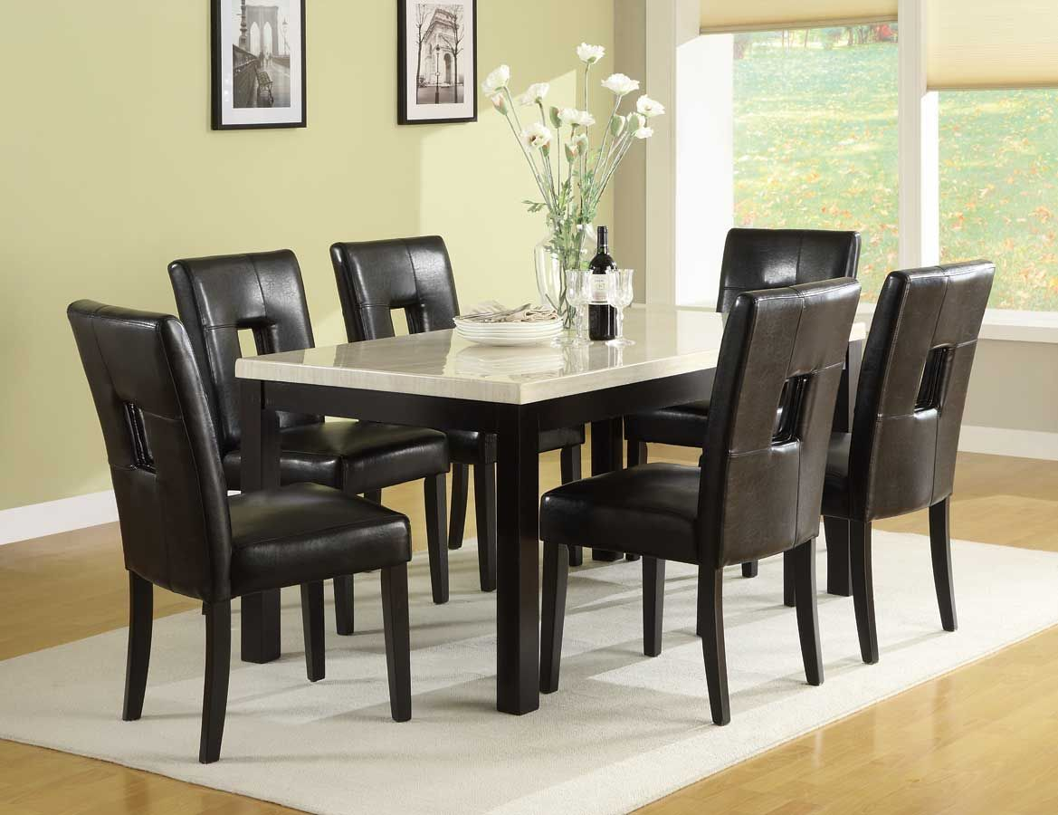 marble top dining room sets grstechus black marble top dinin