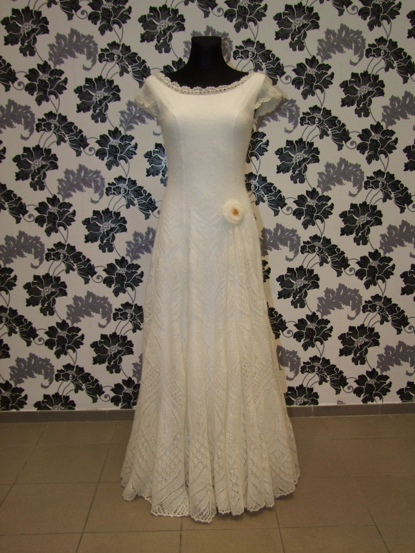 Knitted wedding dress  Made to order Silkmohair knitted wedding dress any by LaimInga