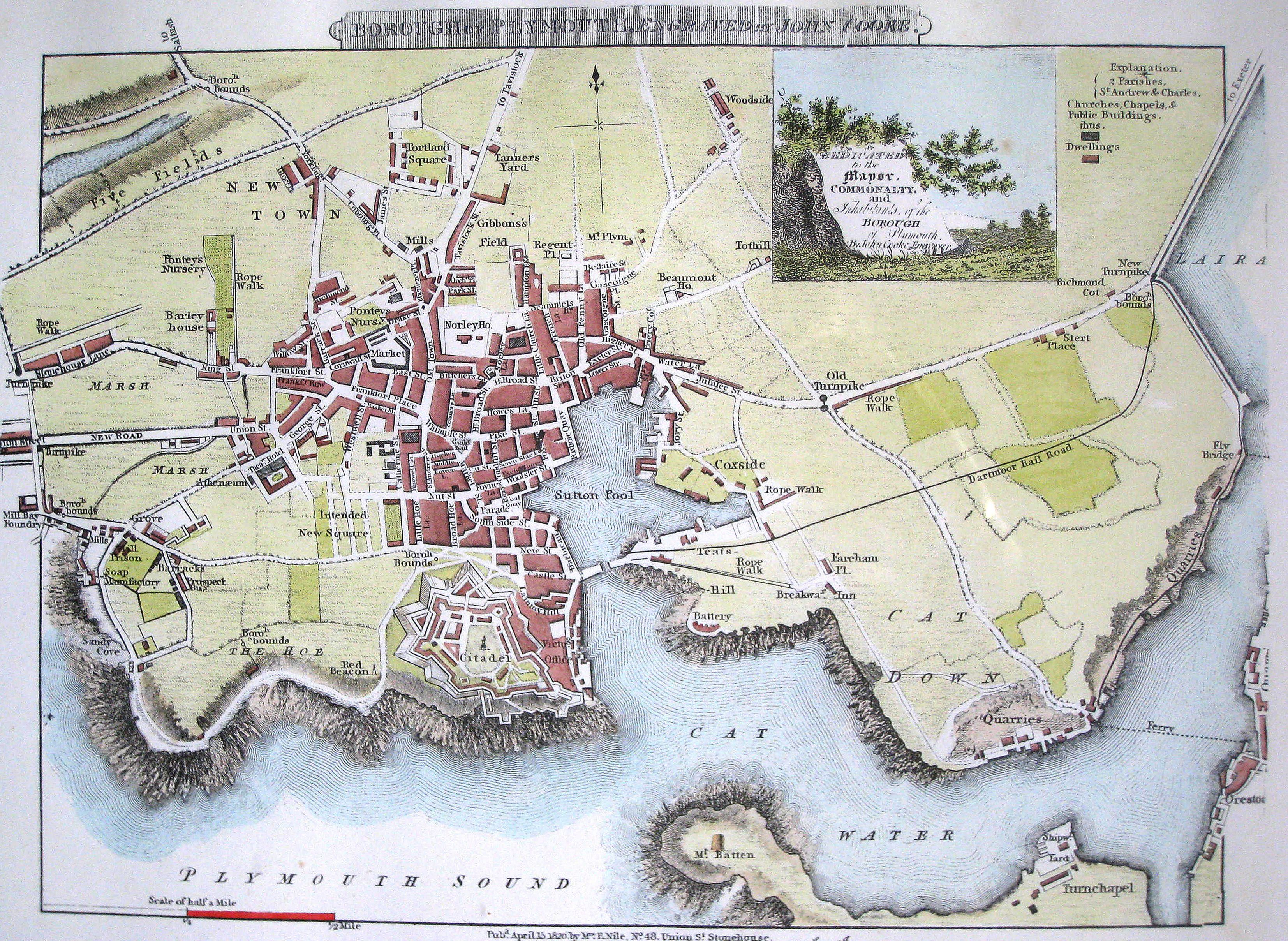 Map Uk Attractions%0A Incredible map reveals what Plymouth looked like when Napoleon Bonaparte  came to visit   Plymouth Herald