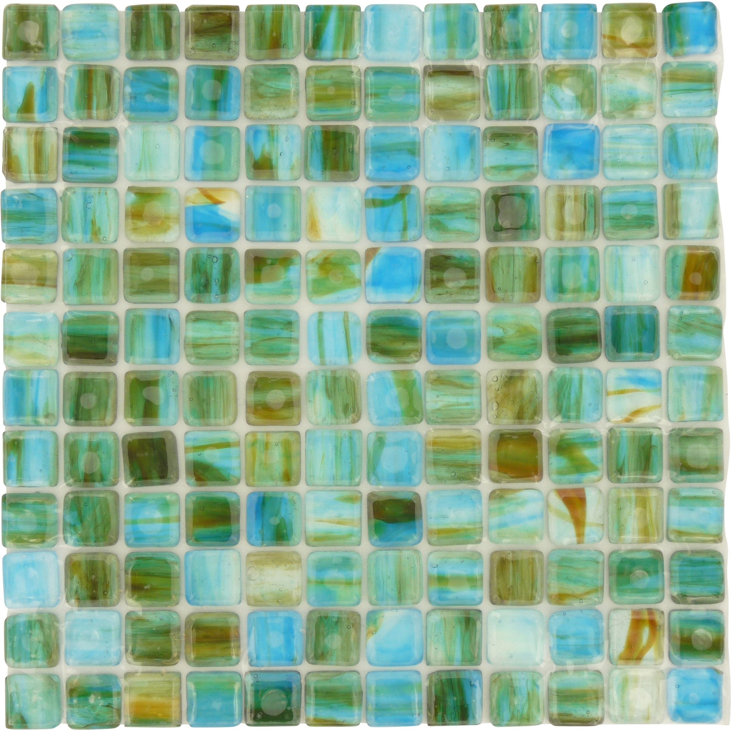 Turquoise 1 X 1 Blue Glossy Glass Tiles Sea Glass Tile Bathroom Colors Blue Glass Tile