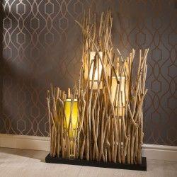 Beautiful Unique Modern Driftwood Floor Lamp 1 2m High 3 Colour Shades