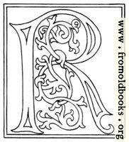 Picture Clipart Initial Letter R From Late 15th Century Printed Book Illuminated Letters Alphabet Coloring Pages Lettering Alphabet