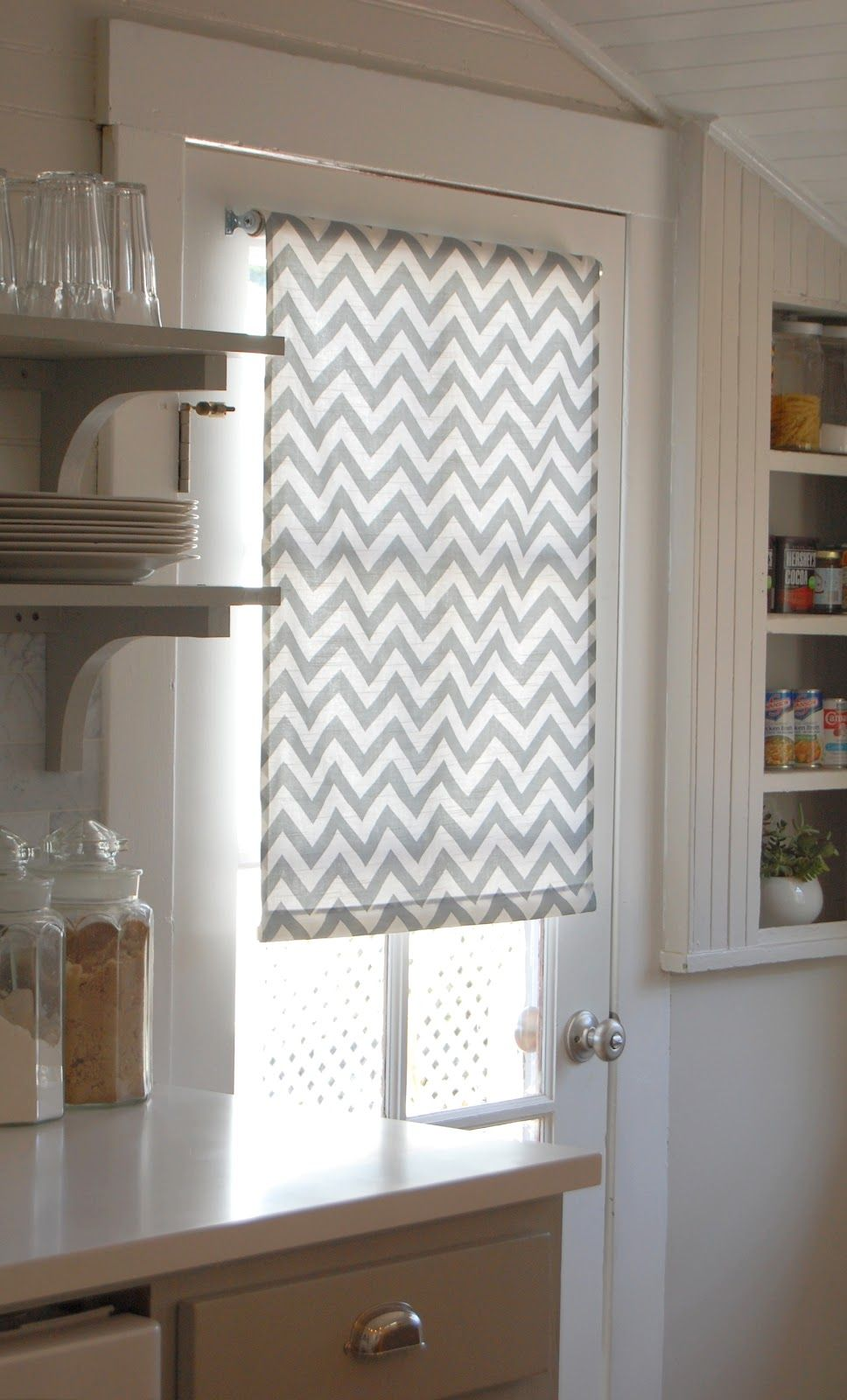 Love and life at leadora diy roller shades for the kitchen