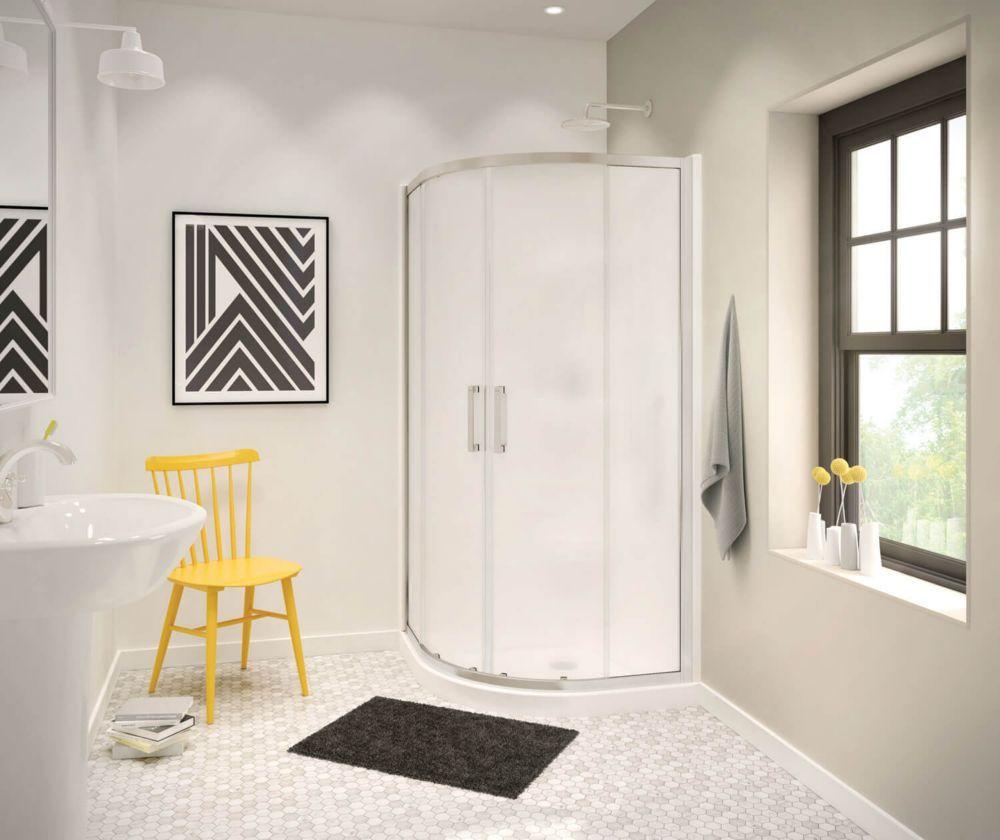 Radia 36 Inch X 36 Inch X 72 Inch Framed Neo Round Sliding Shower