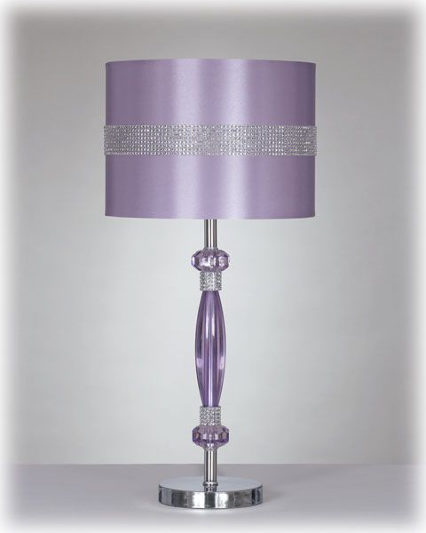 Ashley Furniture Nyssa Purple Metal Table Lamp Purple Lamp