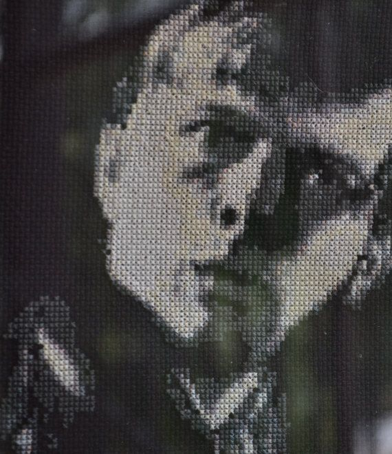 Dark Shadows Cross Stitch Portrait-Willie Loomis by JLCampbell