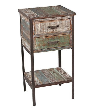 Take a look at this Distressed Two-Drawer Side Table by Privilege on #zulily today!