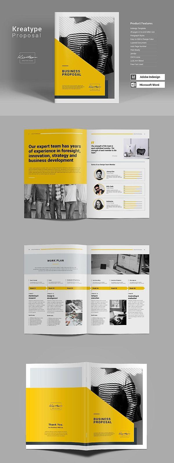 kreatype proposal process books pinterest brochure design