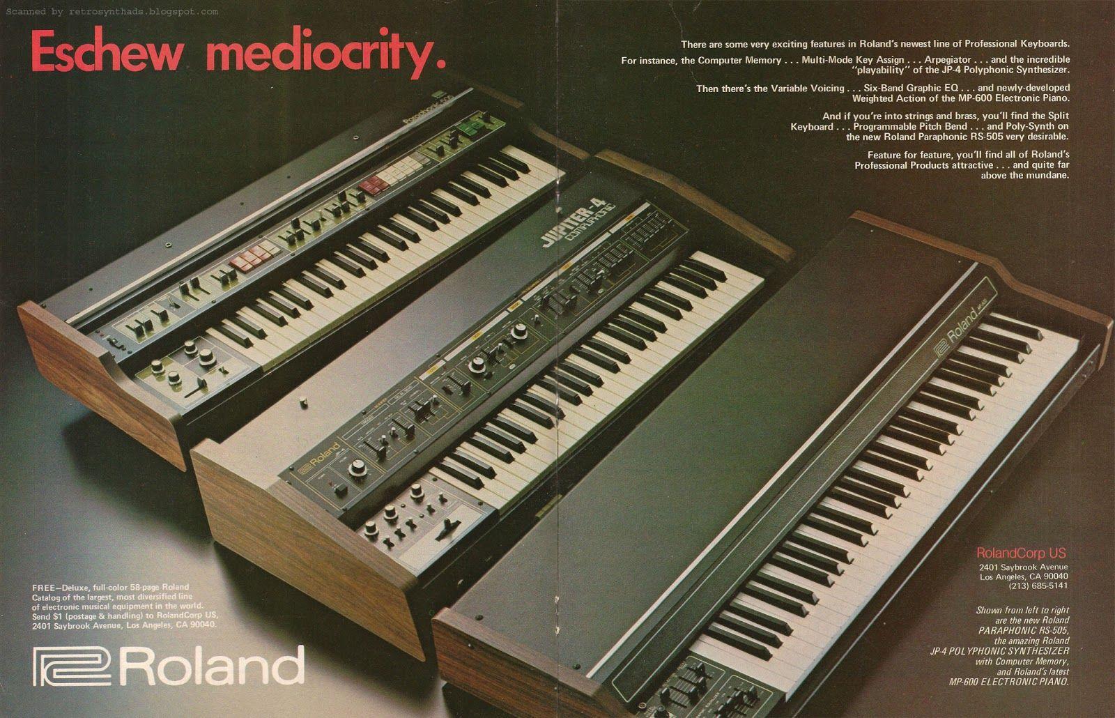 Retro Synth Ads: Roland